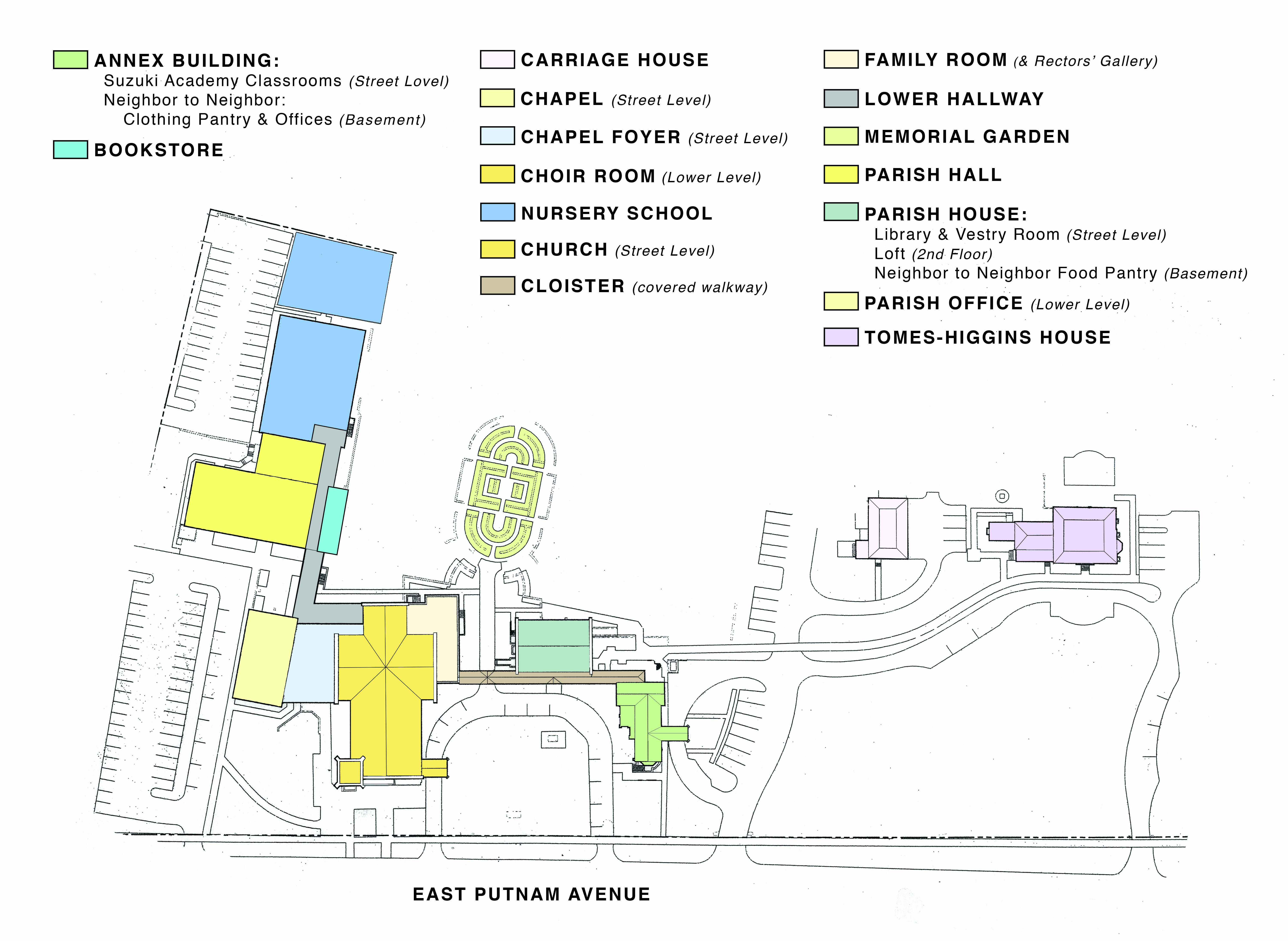 Christ Church Greenwich Campus Map