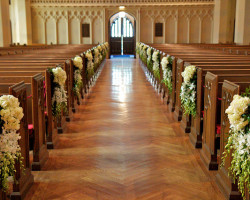 Christ Church Wedding Aisle 250x200 Weddings at Christ Church