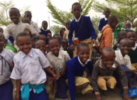 Maasai boys and girls at Endupoto Primary School in Tanzania love being photographed by Mama Cheryl Kyle.