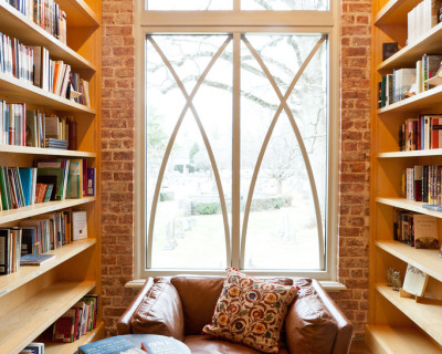 Christ Church Bookstore Nook, photo by Joanne Bouknight
