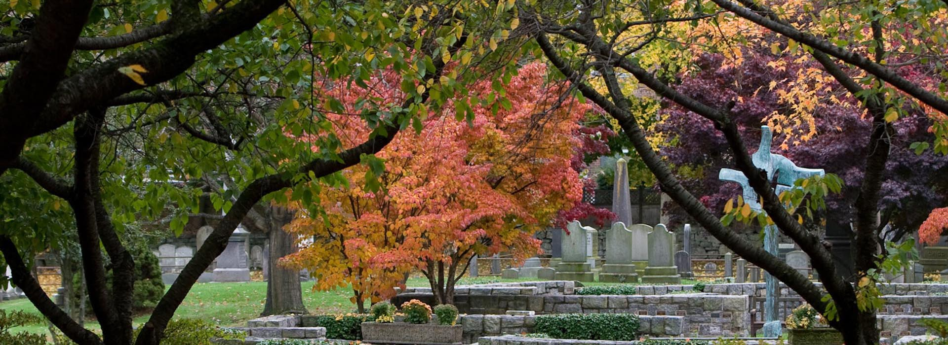 Memorial Garden in Autumn banner