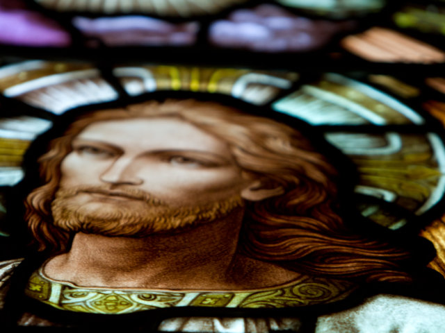 Risen Lord stained glass