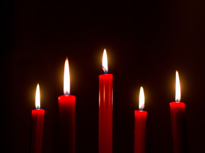 Red Tenebrae Candles