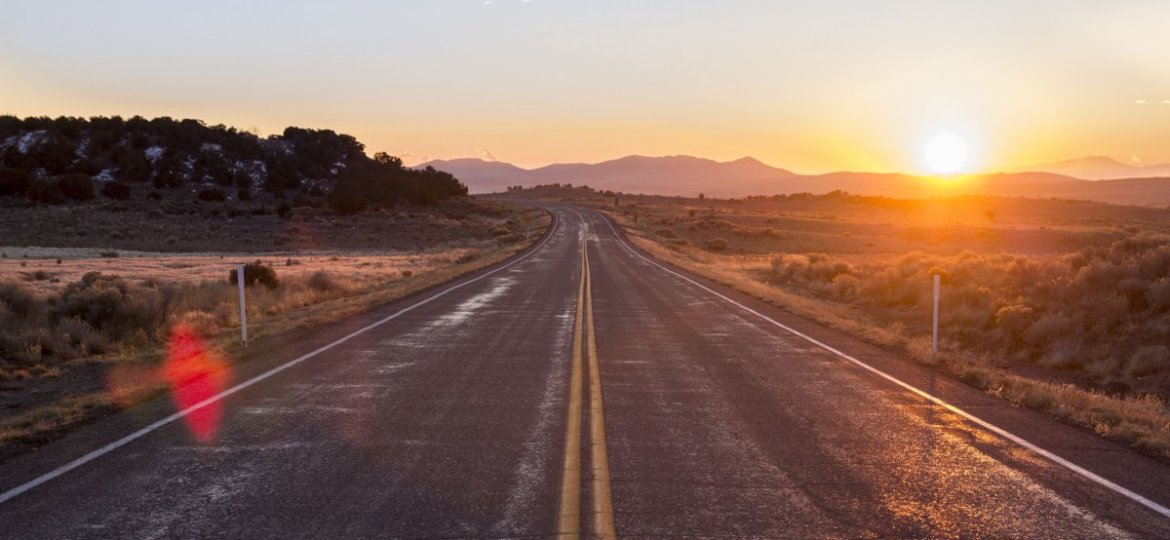 sunrise_road_highway_pavement_rural_countryside_sky-698705